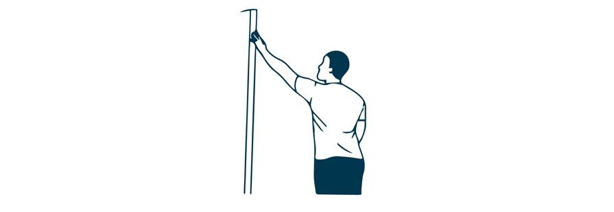 finger walk shoulder exercise